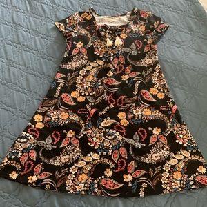 Paisley swing dress